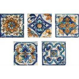 Dekor Multi Sumatra modrá 6x6 cm, mat CTVER12