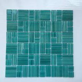 Skleněná mozaika Premium Mosaic tyrkysová 30x30 cm lesk MOS4823MIX3HP