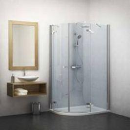 Sprchový kout asymetrický 120x80x201,7 cm Roth Elegant Line chrom lesklý 131-120080L-00-02