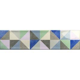 Dekor Ribesalbes Ocean mix barev Triangle 7,5x30 cm lesk OCEAN2718