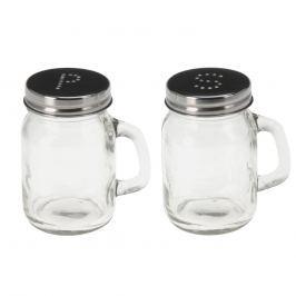 Solnička+pepř sklo/nerez ORION Kořenky, mlýnky
