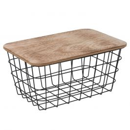 Košík kov/dřevo 31,5x21,5 cm ORION