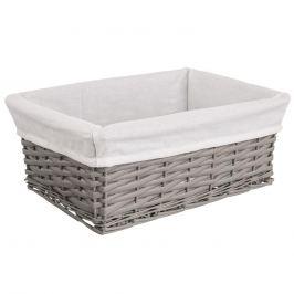 Košík proutí/bavlna 40x30x16,5 cm ŠEDÝ ORION