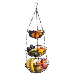 Košík na ovoce drát 3 BROWN závěsný ORION