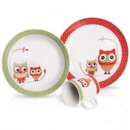 Sada jídelní porc. dětská SOVA 3 ks ORION