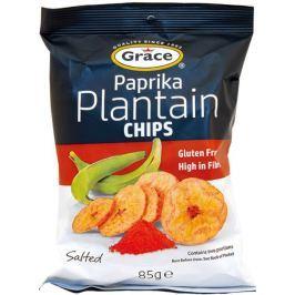 Grace bezlepkové chipsy ze zelených banánů plantain paprika