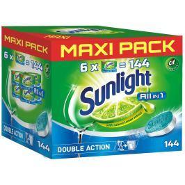 Sunlight All in 1 tablety do myčky nádobí 144ks Multifunkční