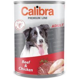 Calibra Dog Premium Adult hovězí+kuře konzerva pro psy