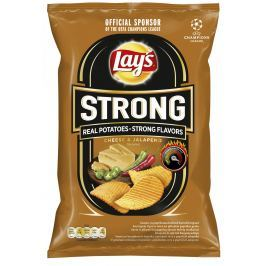 Lay's Chipsy Strong s příchutí sýra a papriček jalapeňo