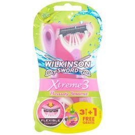 Wilkinson Sword Xtreme3 Beauty Sensitive jednorázový holicí strojek se 3 břity, 4ks