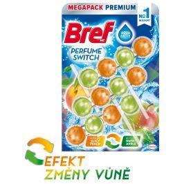 Bref Perfume Switch Peach-Red Apple WC blok 3x50g