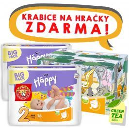 Bella Baby HAPPY plenky Mini (3-6kg) BOX 2x78ks