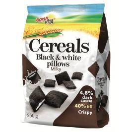 Bonavita Black & White Cereální polštářky s mléčnou náplní