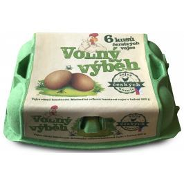 Farmářská vejce z volného výběhu 6ks
