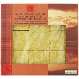 Marks & Spencer Skotské máslové sušenky - čtverce