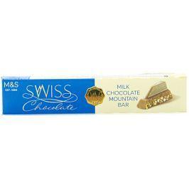 Marks & Spencer Švýcarská mléčná čokoláda s medovo-mandlovým nugátem a mletými lískovými ořechy