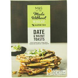 Marks & Spencer Bezlepkové tenké pečené rýžové chlebíčky s datlemi, vlašskými ořechy a slunečnicovými semínky