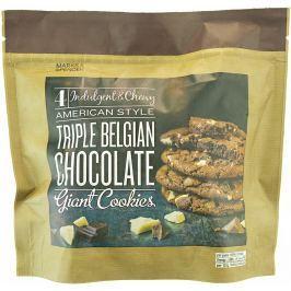 Marks & Spencer Měkké sušenky s kousky belgické bílé, hořké a mléčné čokolády