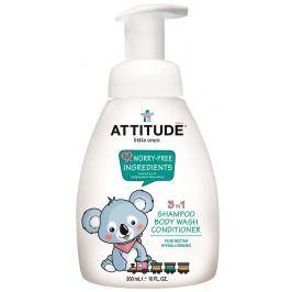 Attitude Dětské tělové mýdlo, šampon a kondicionér (3 v 1) s vůní hruškové šťávy