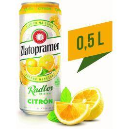 Zlatopramen Radler Citron ochucené pivo plech