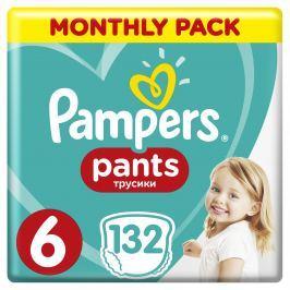 Pampers Pants plenkové kalhotky (velikost 6), měsíční balení 132ks