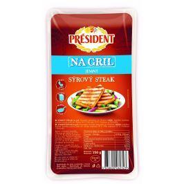 Président sýrový steak na gril jemný