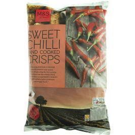 Marks & Spencer Smažené bramborové lupínky s příchutí sladkého chilli