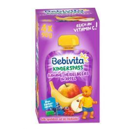 Bebivita Kapsičky - Jablko, banán, borůvky 4x90g,