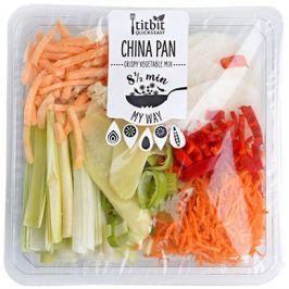 Titbit Ready to Cook China Pan (pór, mrkev, ředkev, batáty, chilli, zázvor)