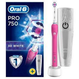 Oral-B Pro 750 3DWhite Elektrický Zubní Kartáček + Cestovní Pouzdro