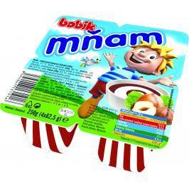 Bobík Mňam mléčný dezert s čokoládou a lískovými oříšky 4ks,