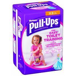 Huggies Pull Ups S trénikové plenky pro děvčata 8-15kg (16ks)
