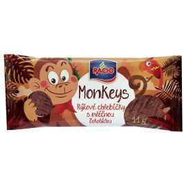 RACIO Monkeys rýžové chlebíčky s mléčnou čokoládou