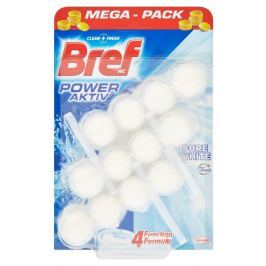 Bref Power Aktiv Pure White tuhý WC blok 3x50g