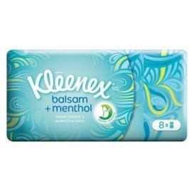 Kleenex Balsam+Menthol papírové kapesníky 4vrstvé 8x9ks