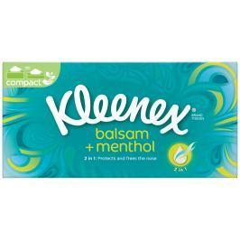 Kleenex Balsam+Menthol papírové kapesníky 3vrstvé box