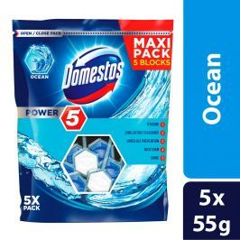 Domestos Power 5 Ocean tuhý WC blok 5 x 55g
