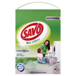 Savo Bez chlóru Universal prášek na barevné a bílé prádlo (4,9kg)
