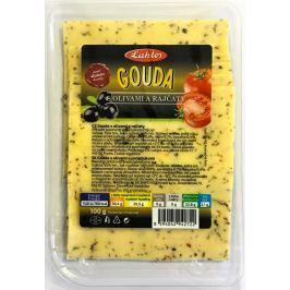 Laktos Gouda 48% s olivami a rajčaty
