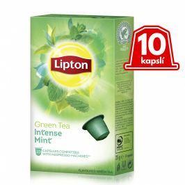 Lipton Zelený aromatizovaný čaj Máta 10 kapslí