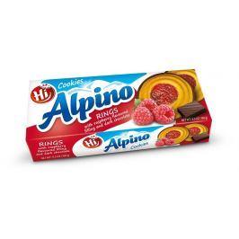 Hi Alpino kroužky s malinovou náplní v tm.čokoládě