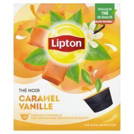 Lipton Černý aromatizovaný čaj Vanilka a karamel 12 kapslí