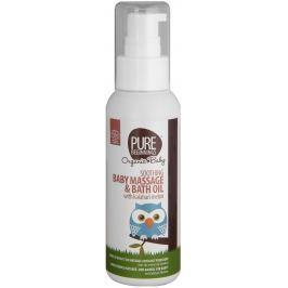 Pure Beginnings Zklidňující dětský masážní a koupelový olej s Kalahari melounem BIO