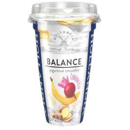 Hollandia Balance jogurtové smoothie banán, červená řepa, zázvor