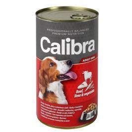 Calibra hovězí+játra+zelenina v želé konzerva pro psy