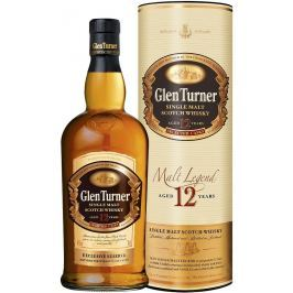 Glen Turner Single Malt Scotch Whisky 12 YO, dárkové balení 40% Alc.