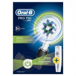 Oral-B PRO 750 CrossAction Elektrický Zubní Kartáček + Cestovní Pouzdro