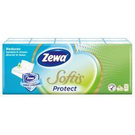 Zewa Softis Protect papírové kapesníky 4vrstvé 10x9ks