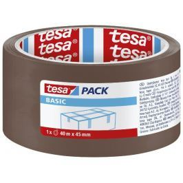 Tesa BASIC balicí páska hnědá, 40 m x 45 mm