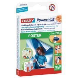 Tesa Powerstrips oboustranné proužky na plakáty, 20 ks